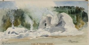 A 1884 sketch by Welshman Thomas H. Thomas reproduced in Through Early Yellowstone.